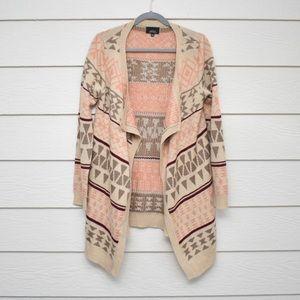 Active Southwestern Aztec Long Sleeve Cardigan